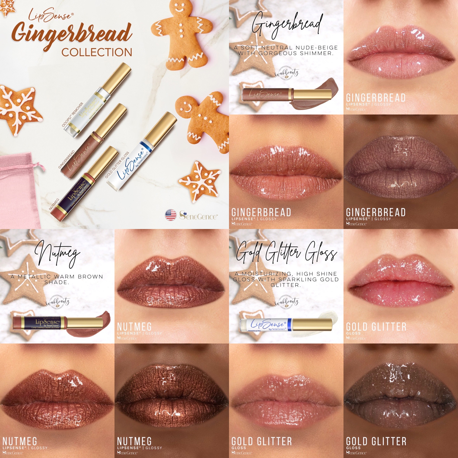 Gingerbread Lipsense Collection Limited Edition Swakbeauty Com