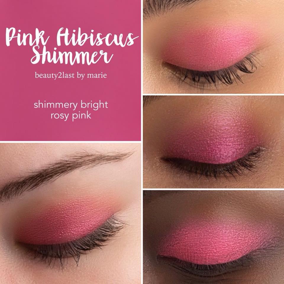 Pink Hibiscus Shimmer Shadowsense Swakbeautycom