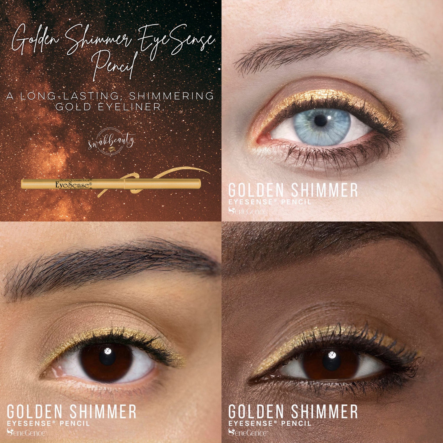 Golden Shimmer Eyesense Eye Liner Pencil Swakbeauty Com